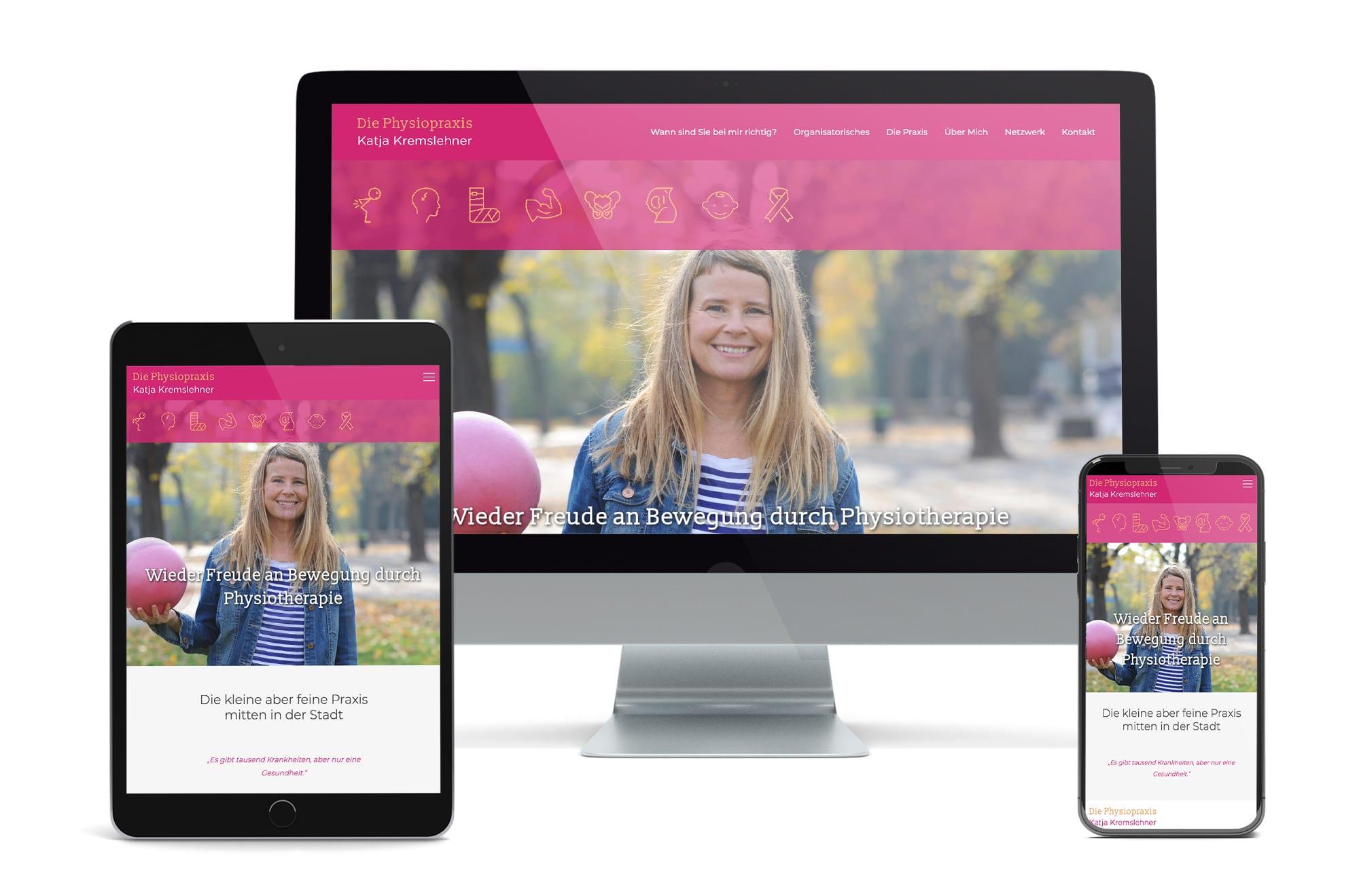 Webdesign Beispiel: Neue Website für Physiotherapie in Wien