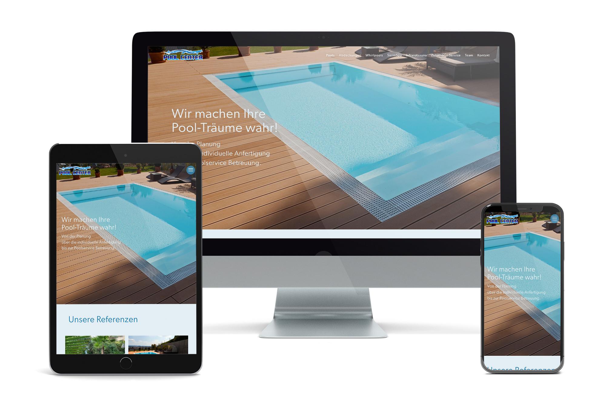 Webdesign Beispiel: Neue Website für Pool Center