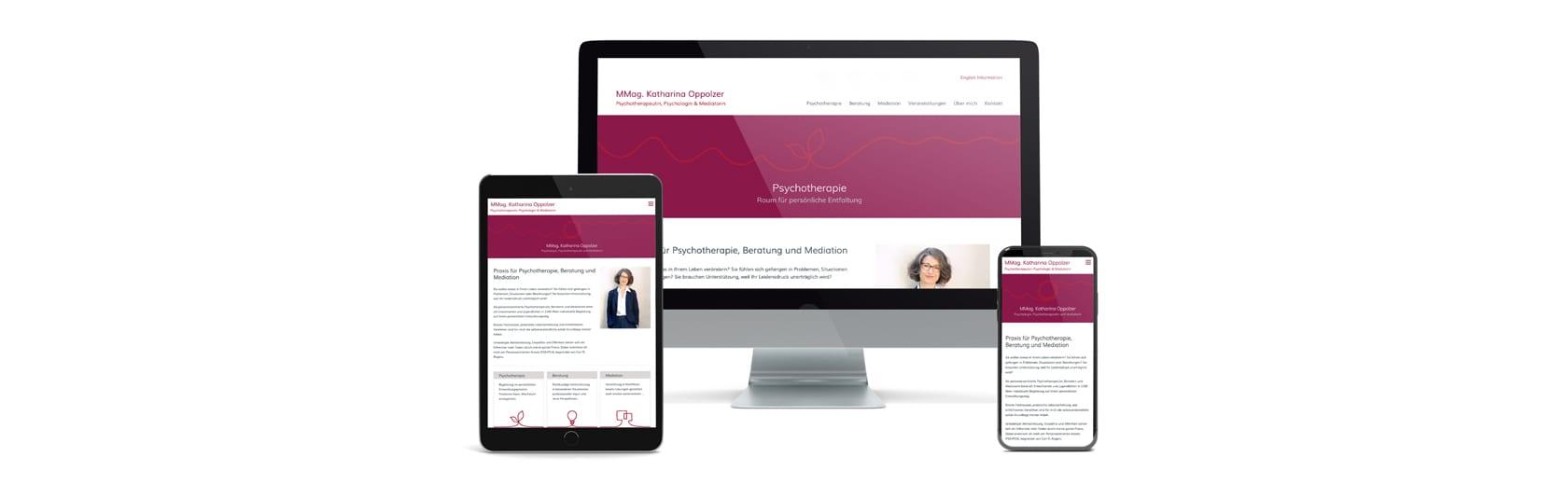 Psychotherapie Homepage erstellen lassen bei Webdesign Wien