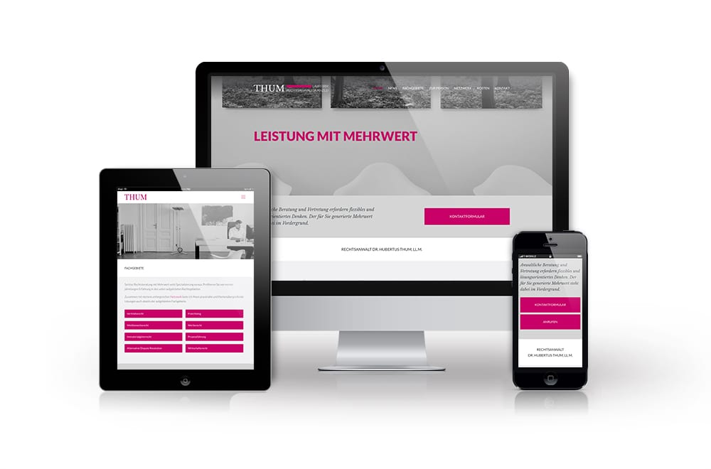 Webdesign Beispiel: Neue Website für Rechtsanwalt Wien