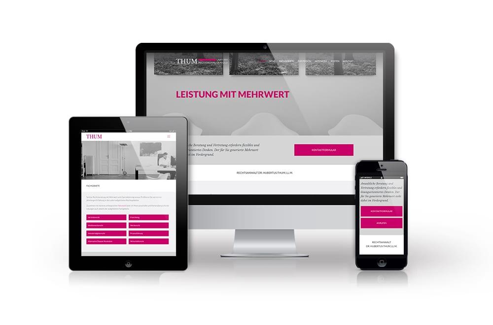 Beispiel: Corporate Design, Mobiles Webdesign, WordPress