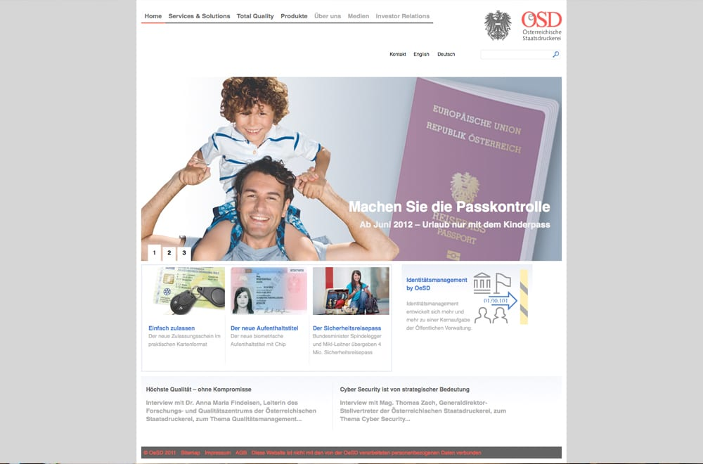 Webdesign Beispiel: Webdesign für Druckerei
