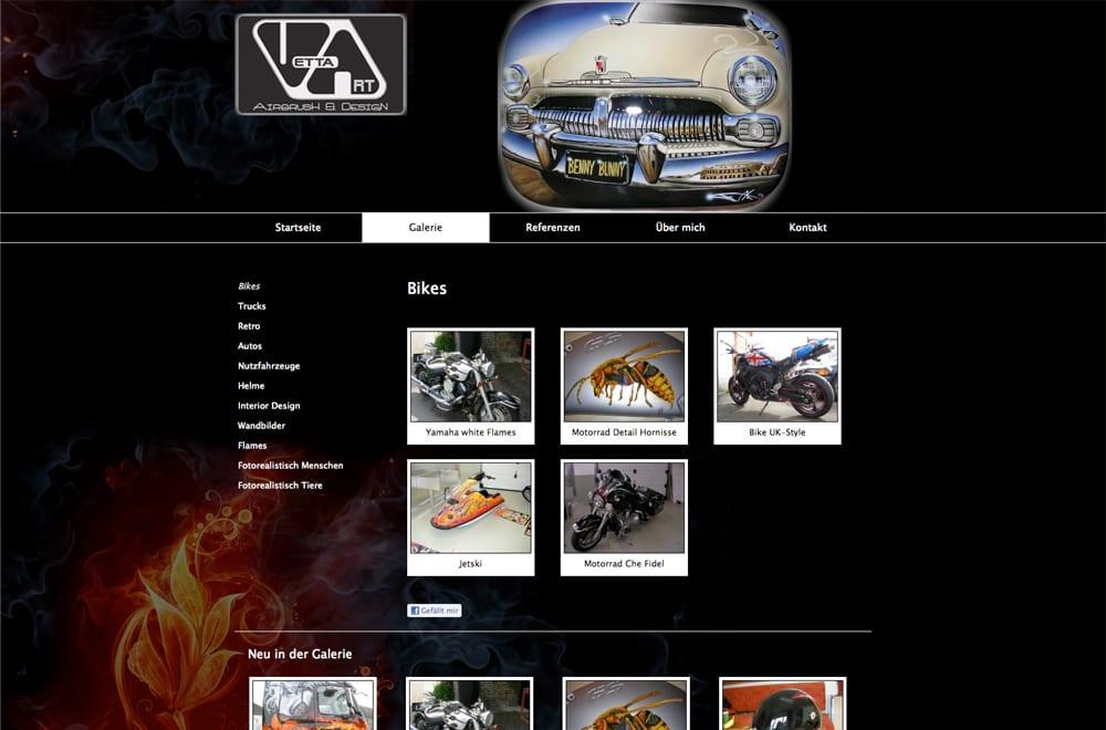 Webdesign Beispiel: Webdesign für Künstler