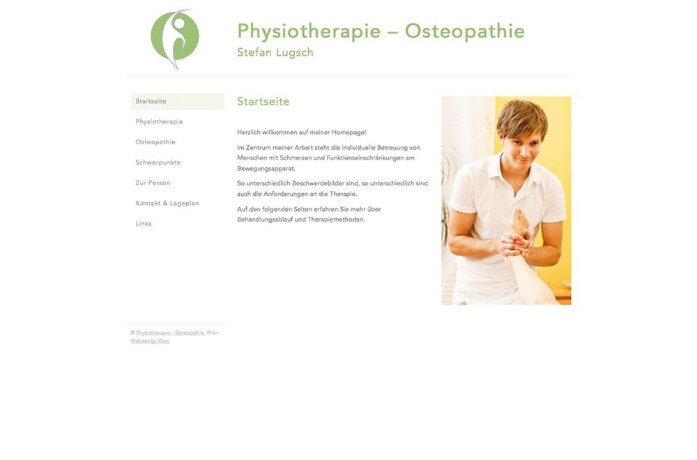 Webdesign Beispiel: Webdesign für Physiotherapie / Osteopathie