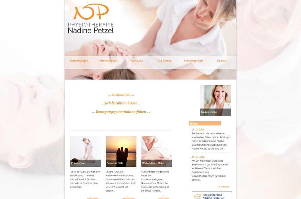 Webdesign Beispiel: Webdesign für Physiotherapie in Wien