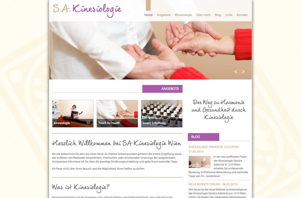 Webdesign Beispiel: Webdesign für Energetikerin / Kinesiologin