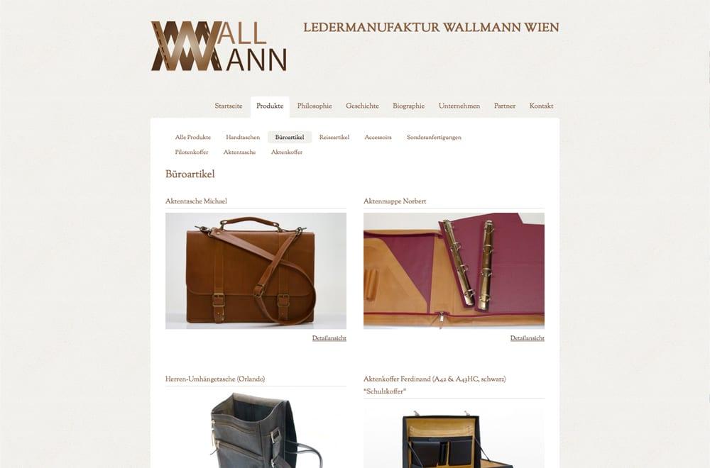 Webdesign Beispiel: Webdesign für Handel / Lederwaren