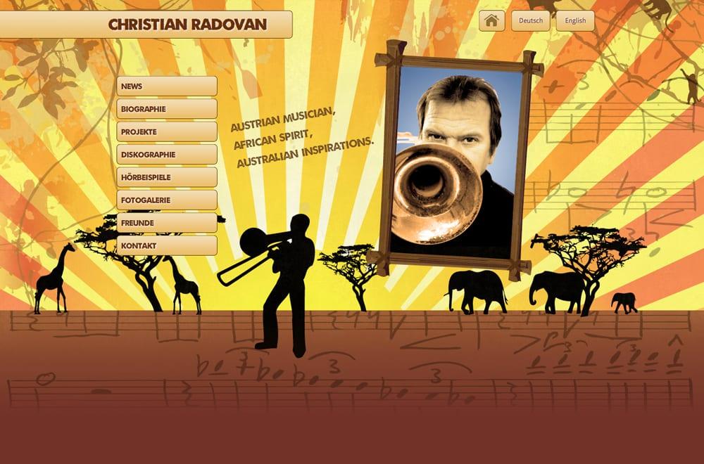 Webdesign Beispiel: Webdesign für Musiker