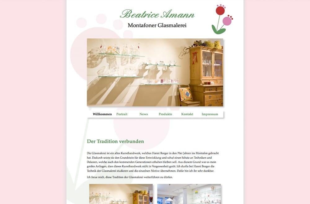 Webdesign Beispiel: Webdesign für Handel / Kunsthandwerk