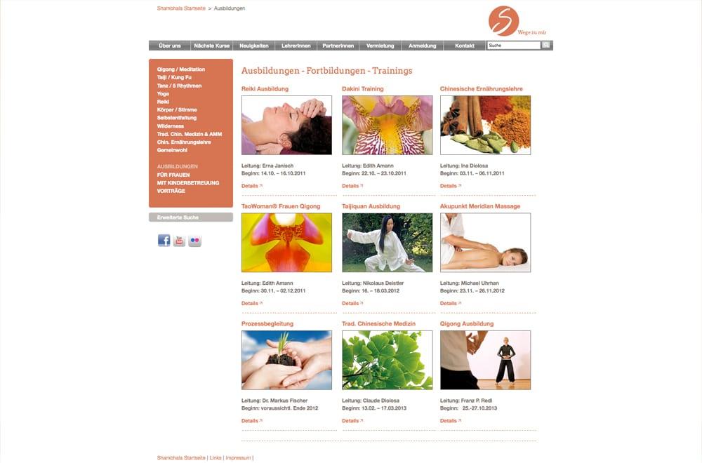 Responsive Webdesign Beispiel: Neue mobile Webseite für Ausbildung / Yoga