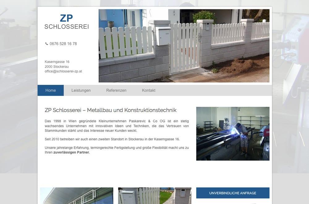 Responsive Webdesign Beispiel: Neue mobile Webseite für Schlosserei in Wien