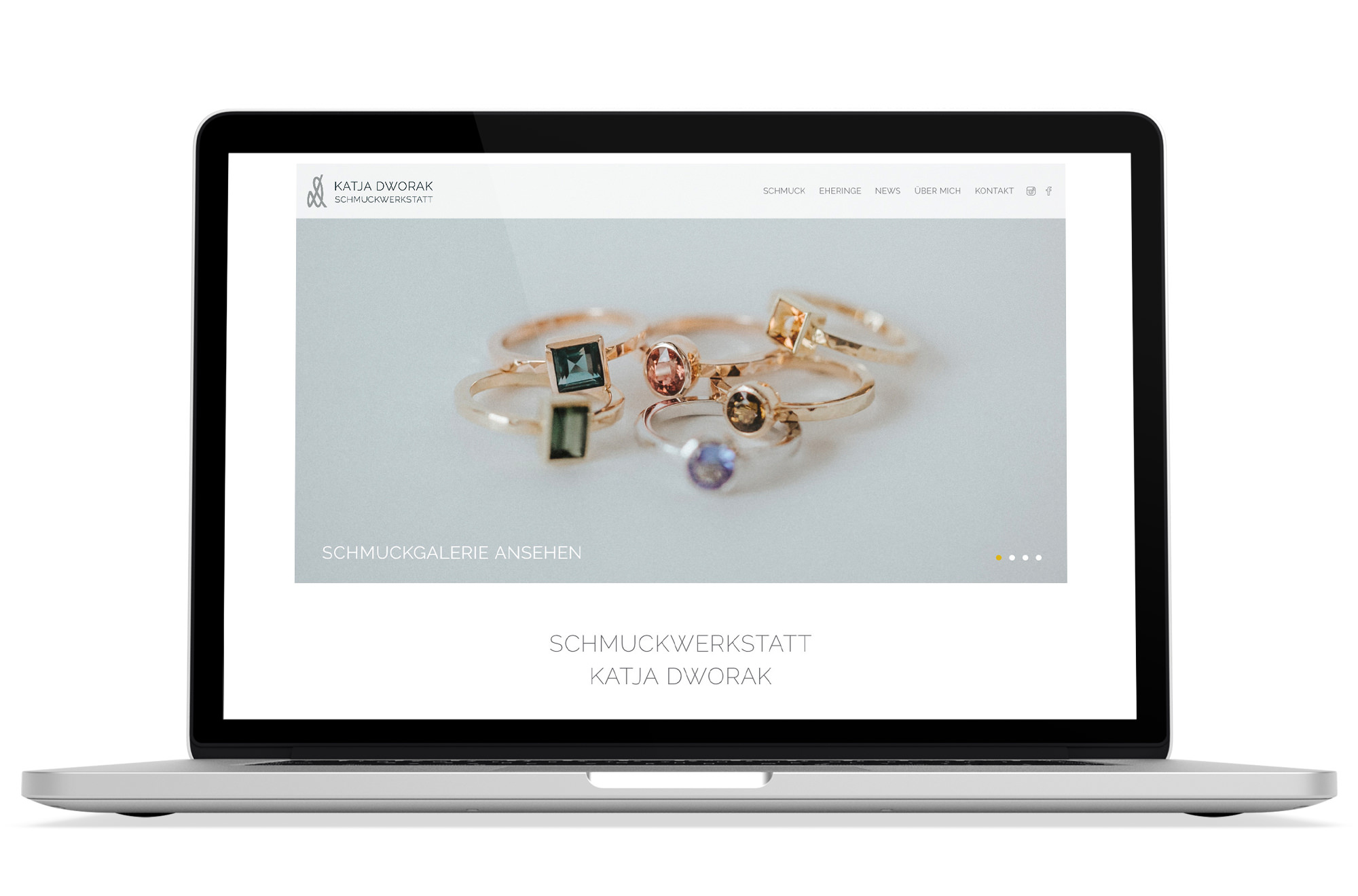 Webdesign Beispiel: Responsive Webdesign, WordPress für Schmuck, Eheringe & Schmuck Reparatur Wien