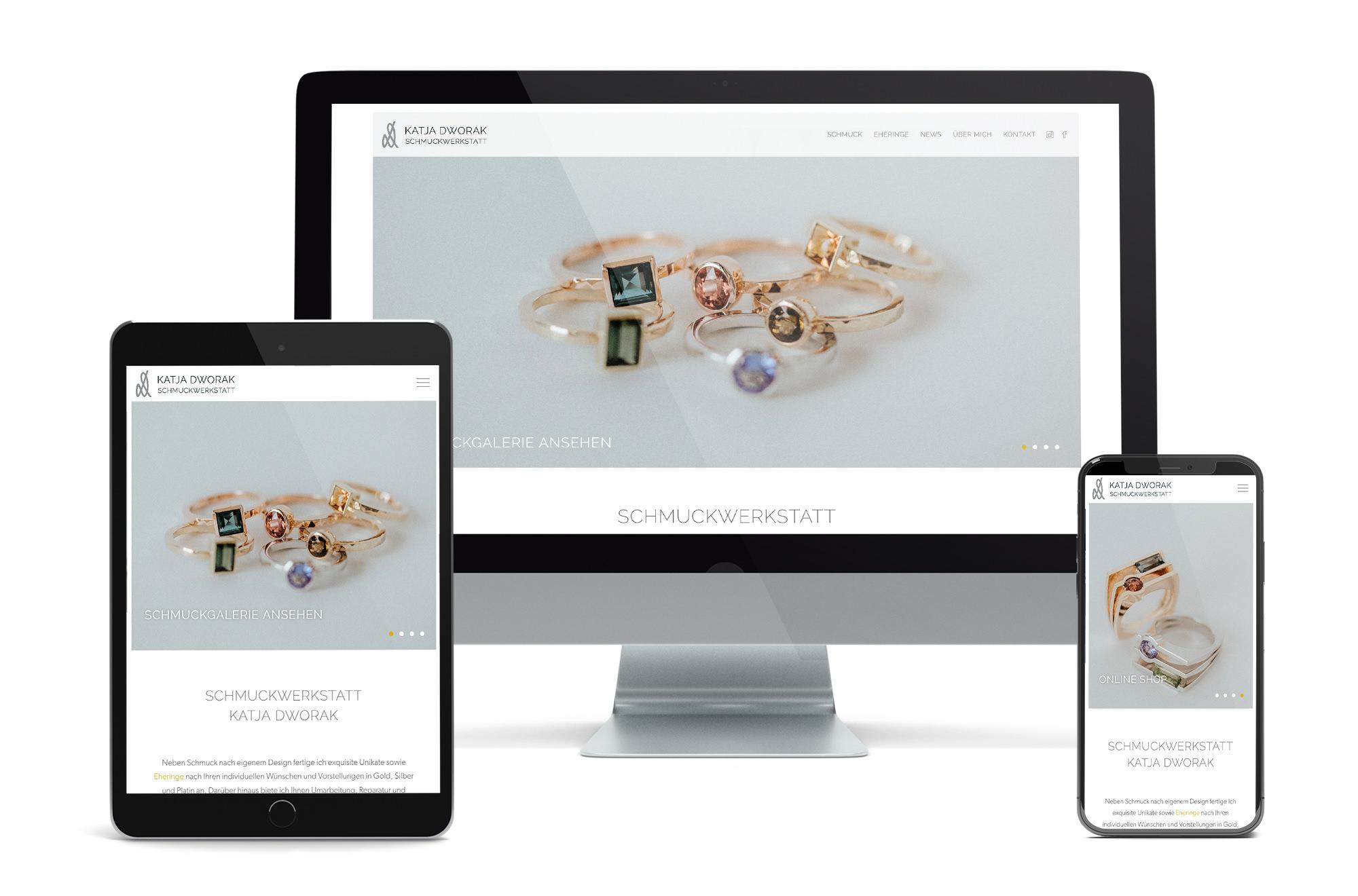 Webdesign Beispiel: Neue Website für Schmuck, Eheringe & Schmuck Reparatur Wien