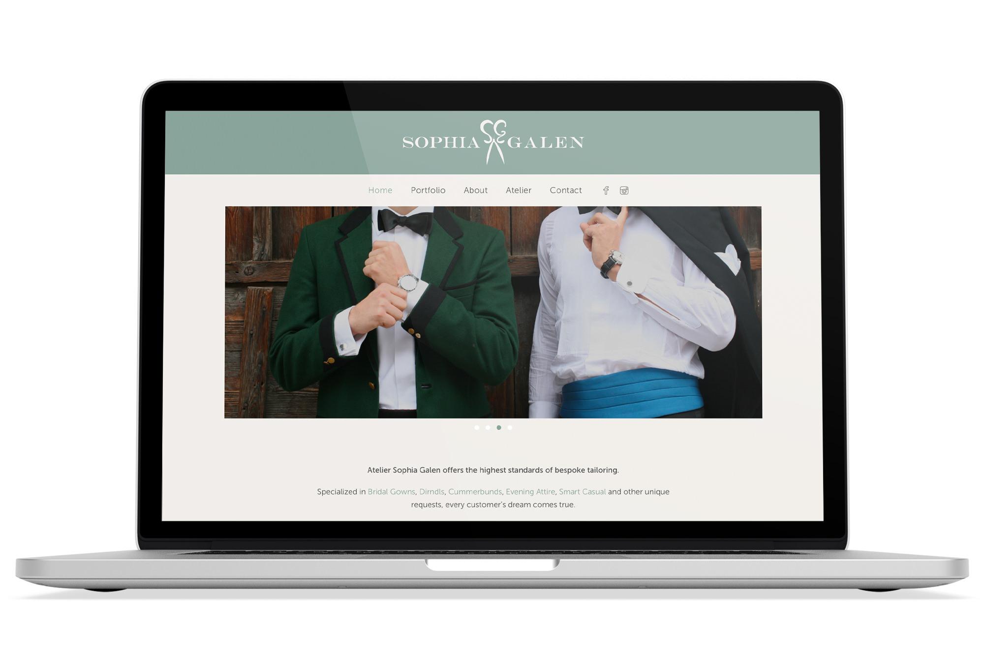 Webdesign Beispiel: WordPress, Webdesign für Modedesigner