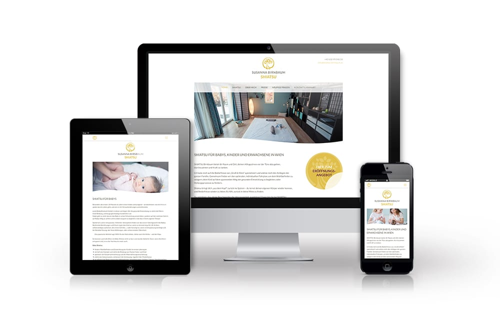Beispiel: Logodesign, Mobiles Webdesign, WordPress