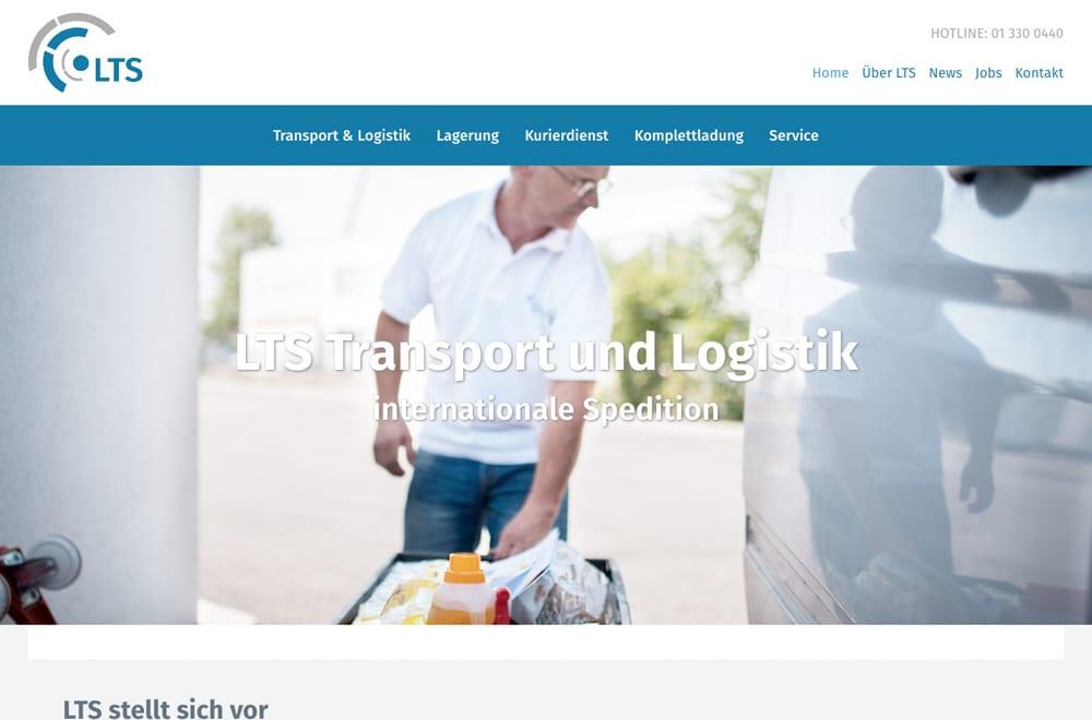 Webdesign Beispiel: Responsive Webdesign, WordPress für Spedition in Wien