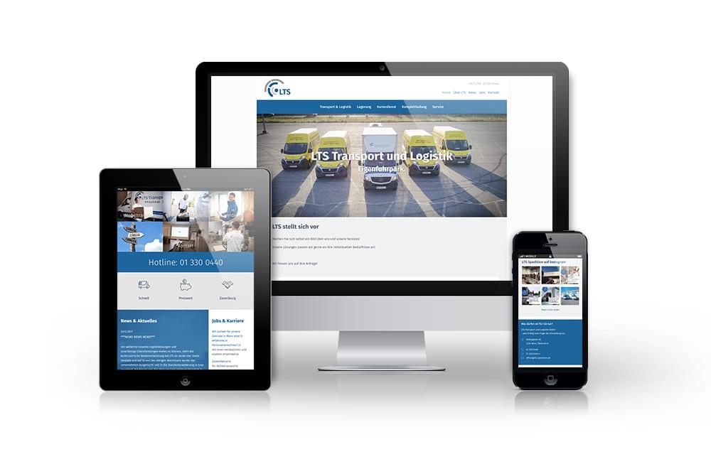 Webdesign Beispiel: Responsive Webdesign, WordPress für Spedition