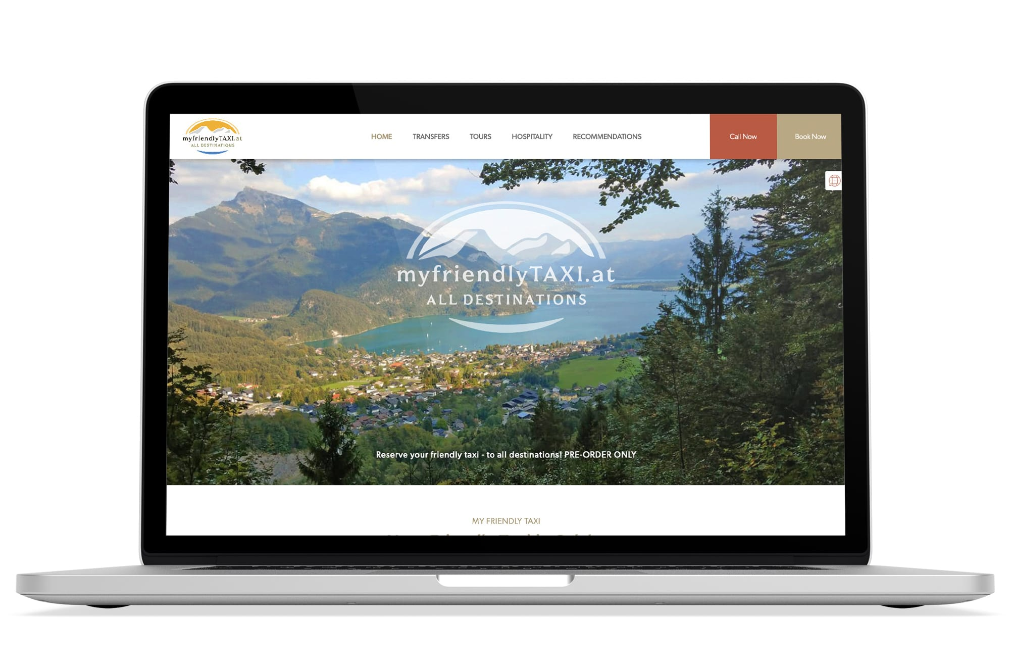 Webdesign Beispiel: Corporate Design, Responsive Webdesign, WordPress für Taxi & Private Touren in Salzburg