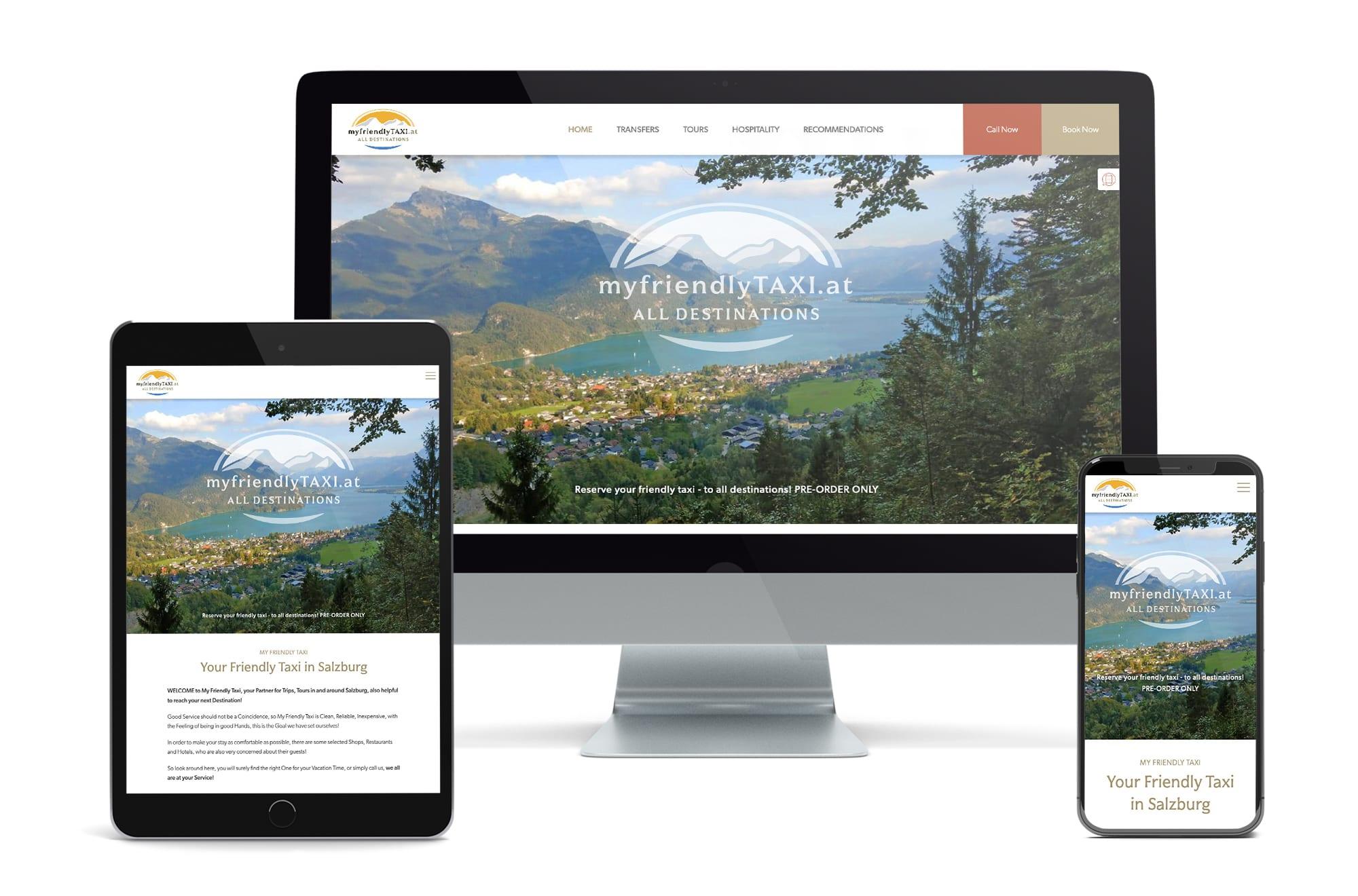 Webdesign Beispiel: Neue Website für Taxi & Private Touren in Salzburg