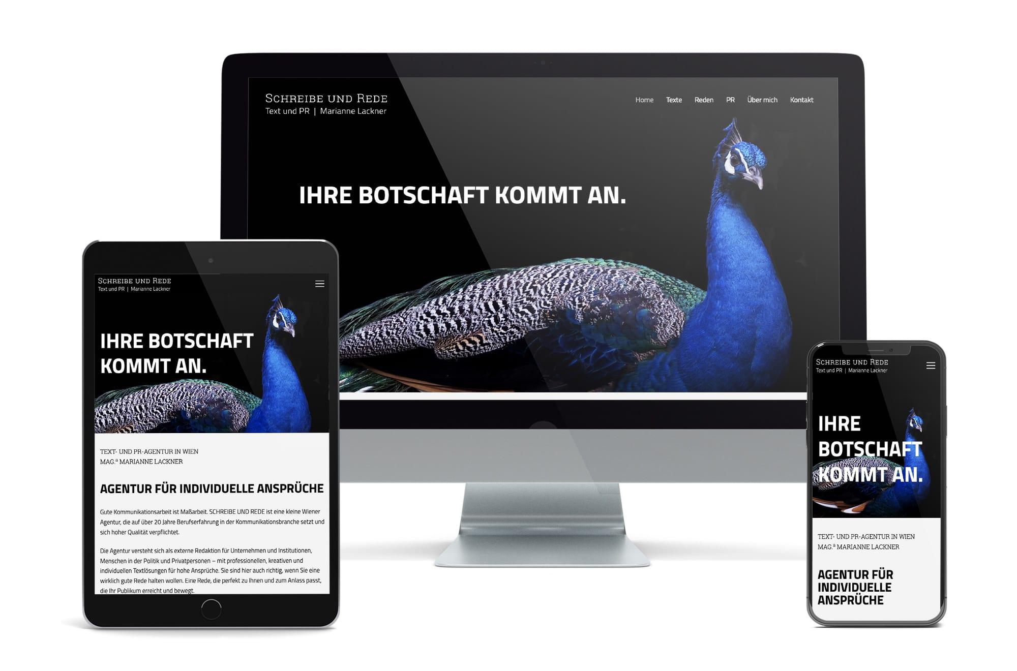 Webdesign Beispiel: Neue Website für Text- und PR-Agentur