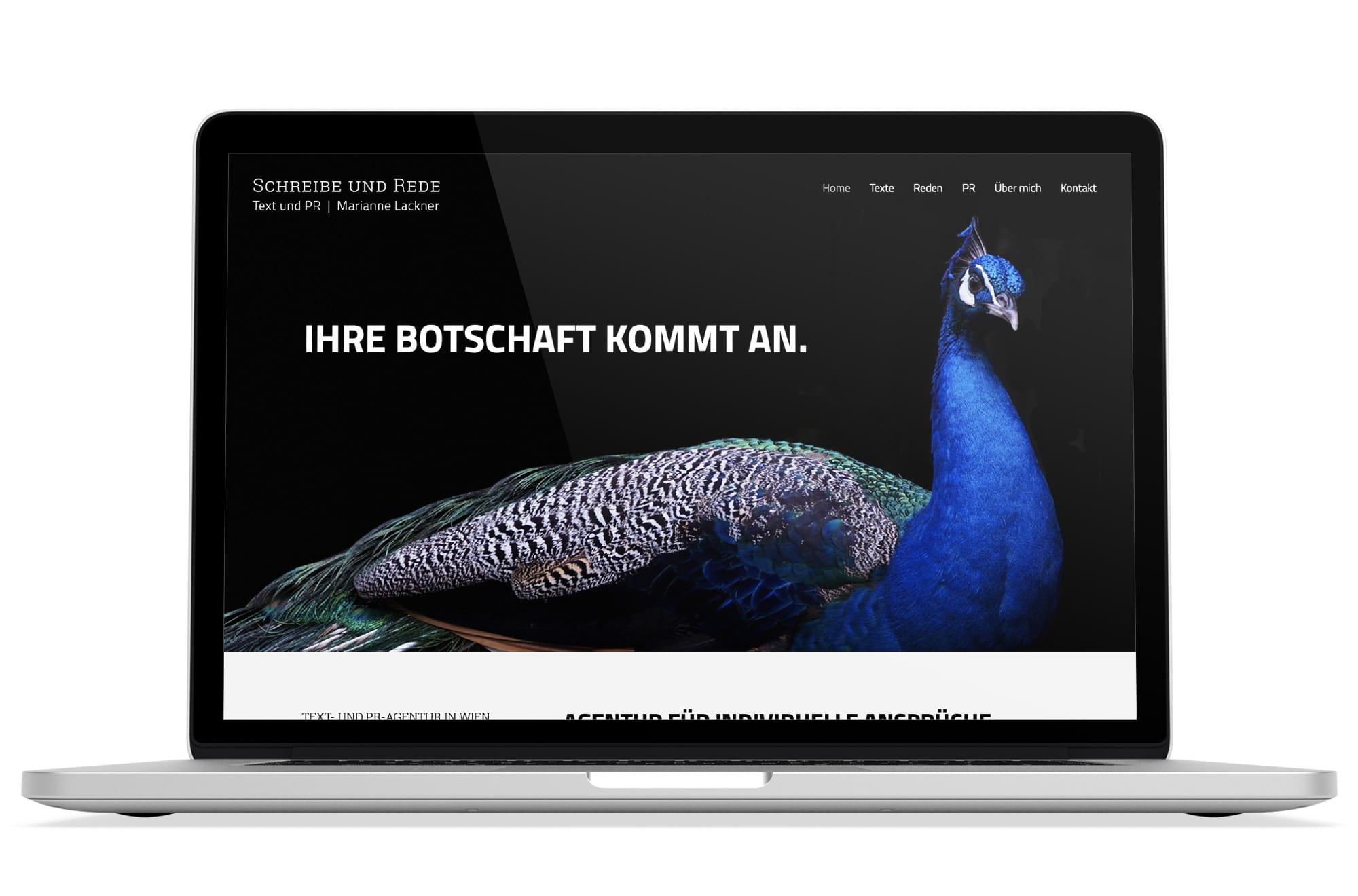 Webdesign Beispiel: Logodesign, Responsive Webdesign, WordPress für Text- und PR-Agentur