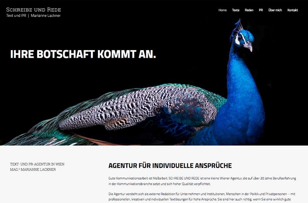 Responsive Webdesign Beispiel: Neue mobile Webseite für Text- und PR-Agentur