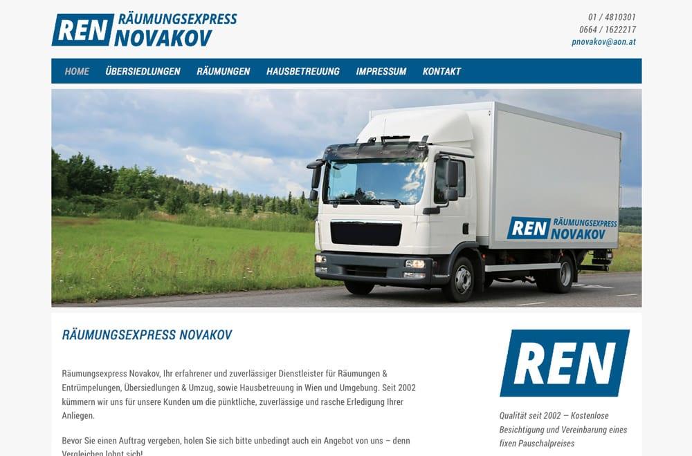 Webdesign Beispiel: Logodesign, Corporate Design, Responsive Webdesign, WordPress für Räumung, Umzug & Reinigung in Wien