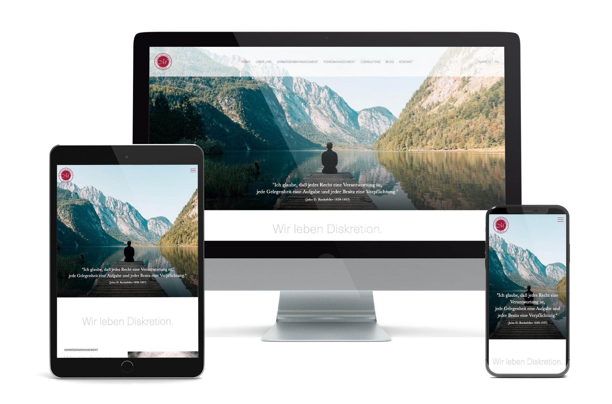 Webdesign Beispiel: Neue Website für Finanzberatung, Vermögensmanagement & Risikomanagement