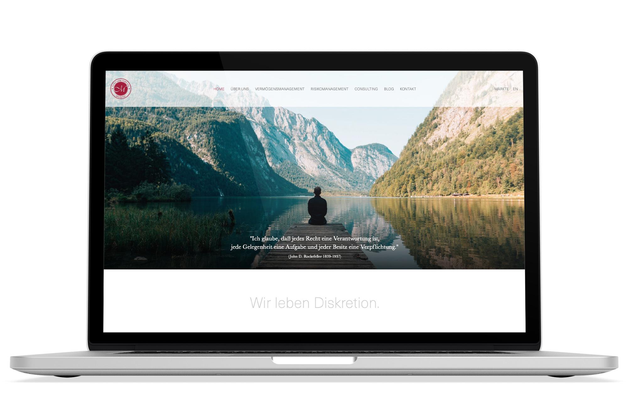 Webdesign Beispiel: Corporate Design, Webdesign für Finanzberatung, Vermögensmanagement & Risikomanagement