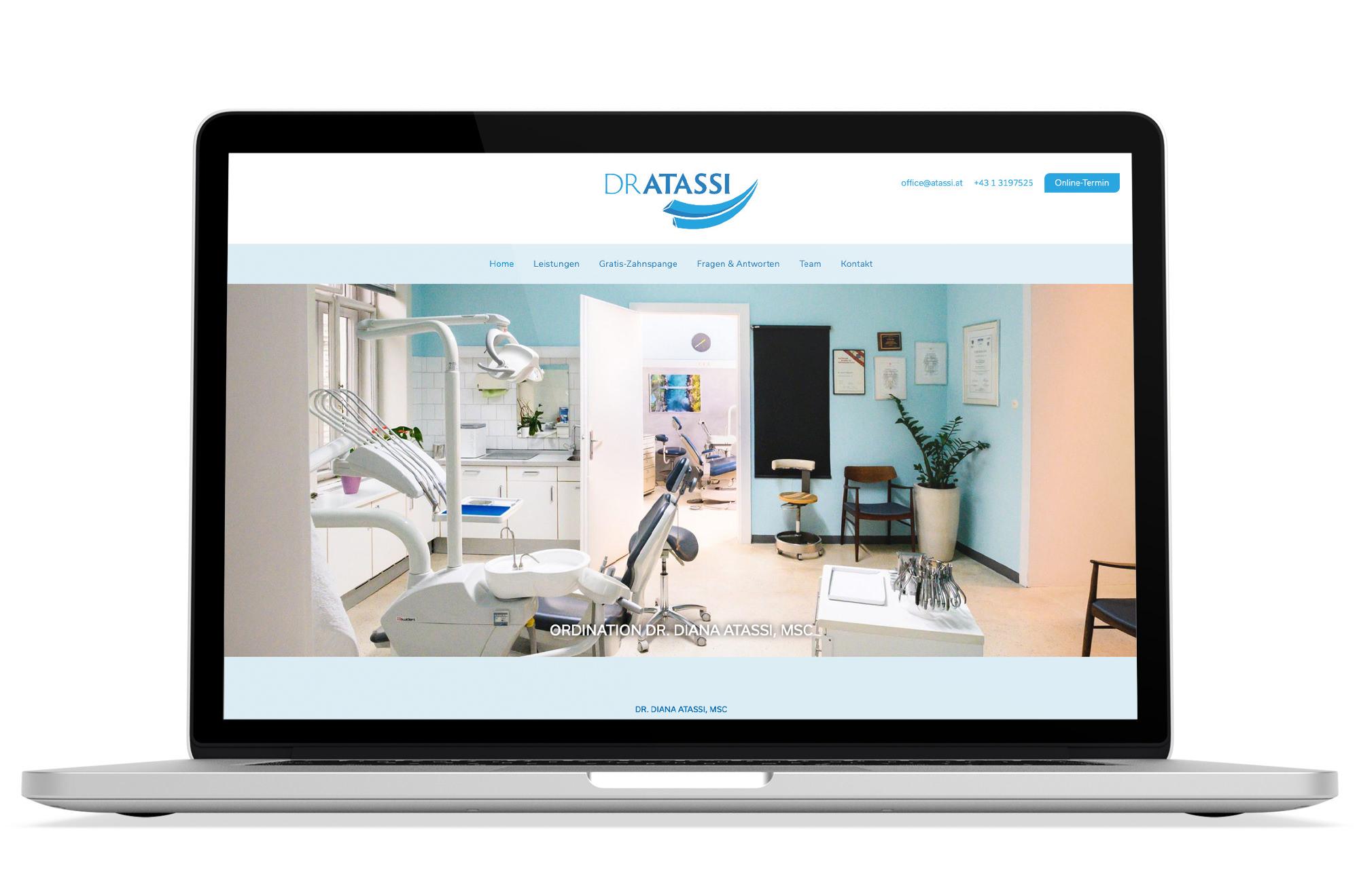 Webdesign Beispiel: Responsive Webdesign für Kieferorthopädie Wien & Zahnspange Wien