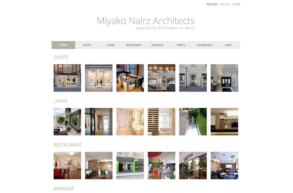 Webdesign Beispiel: Responsive Webdesign, WordPress für Architekt Wien
