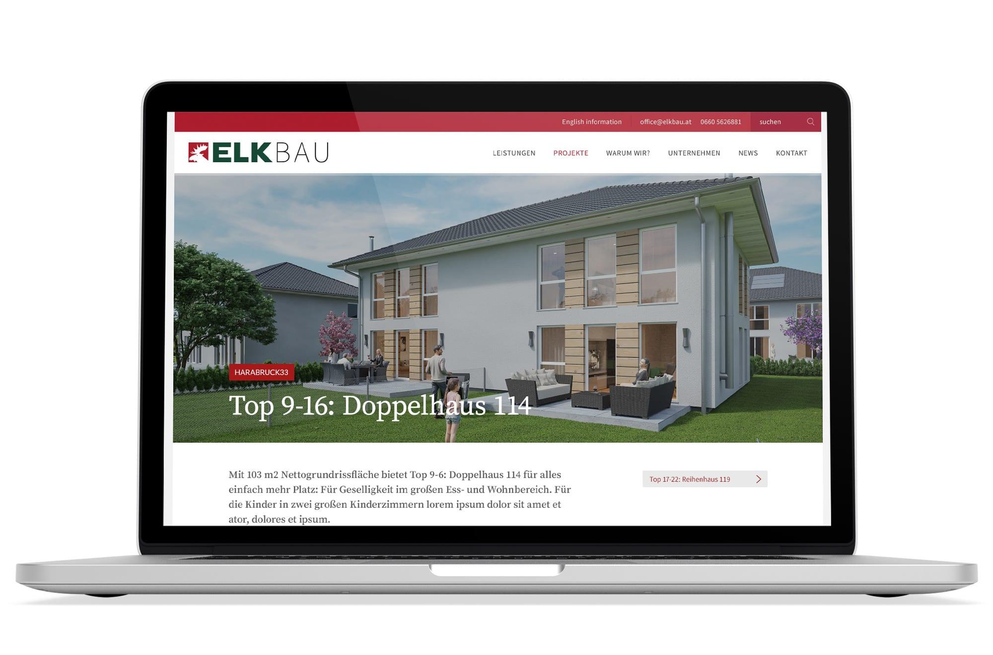 Webdesign Beispiel: Responsive Webdesign, WordPress für Bauträger