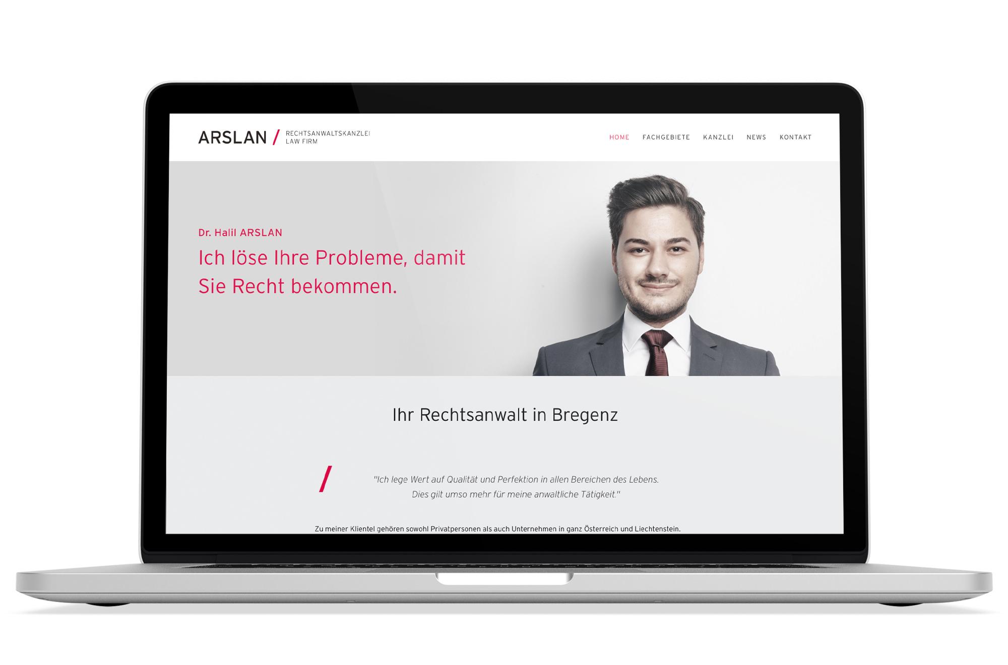 Webdesign Beispiel: Logodesign, Corporate Design, Responsive Webdesign, WordPress für Anwalt - Anwaltskanzlei