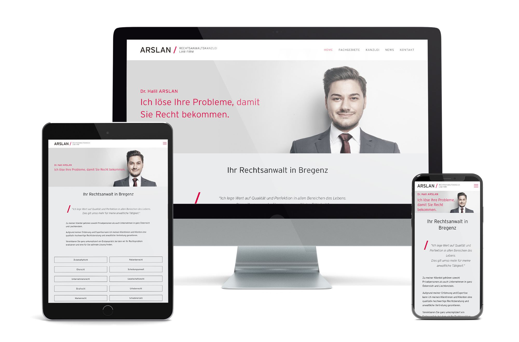 Webdesign Beispiel: Neue Website für Anwalt - Anwaltskanzlei