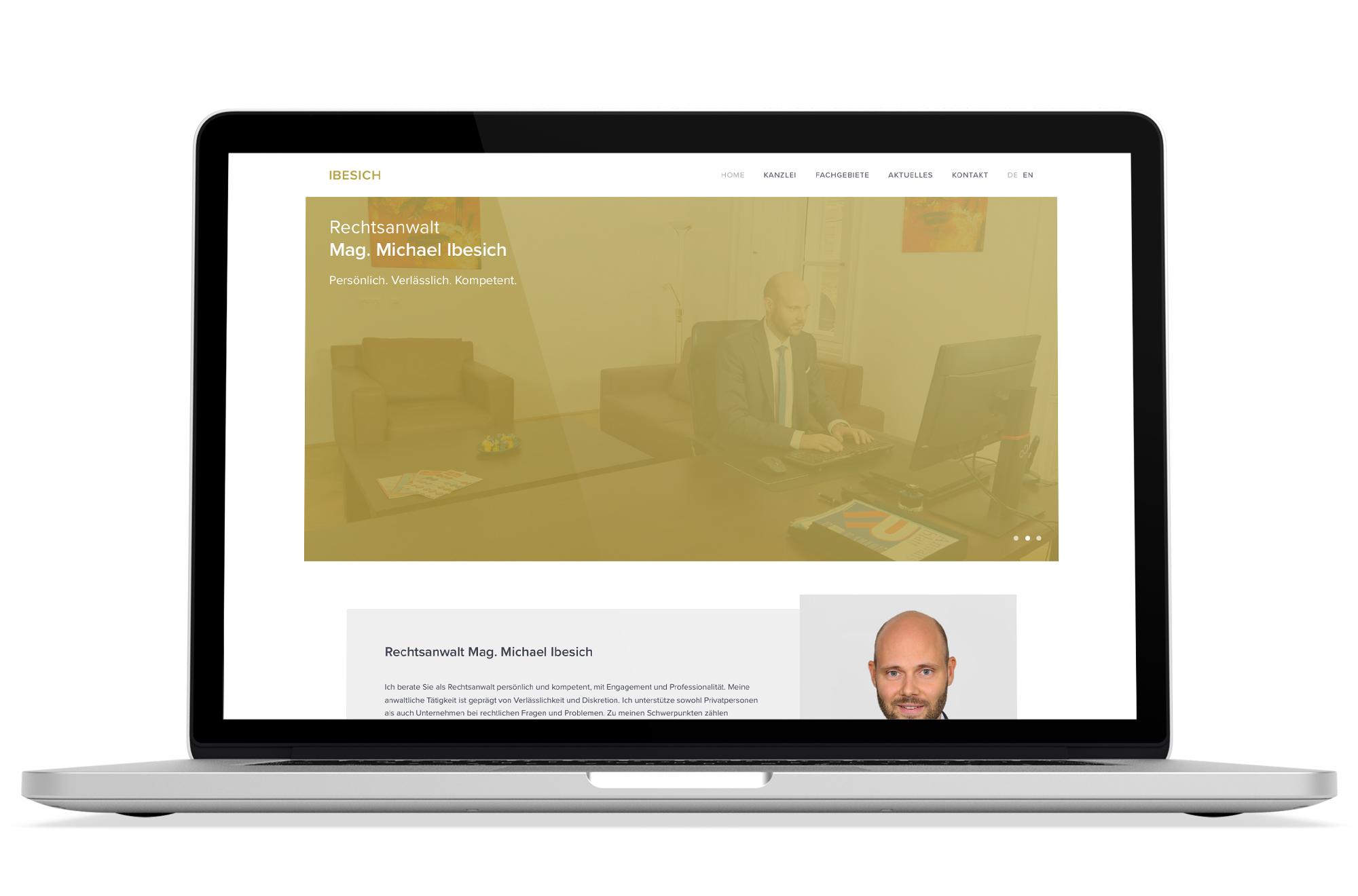 Webdesign Beispiel: Logodesign, Responsive Webdesign, WordPress für Anwalt