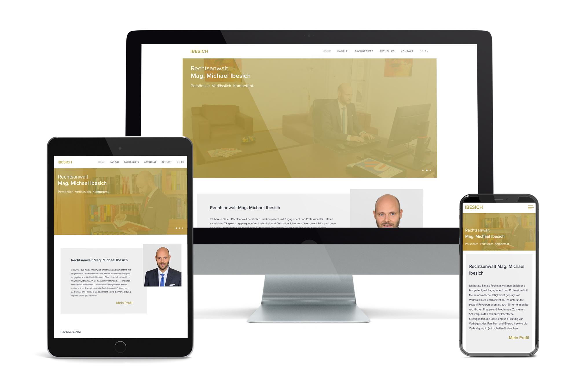 Webdesign Beispiel: Neue Website für Anwalt