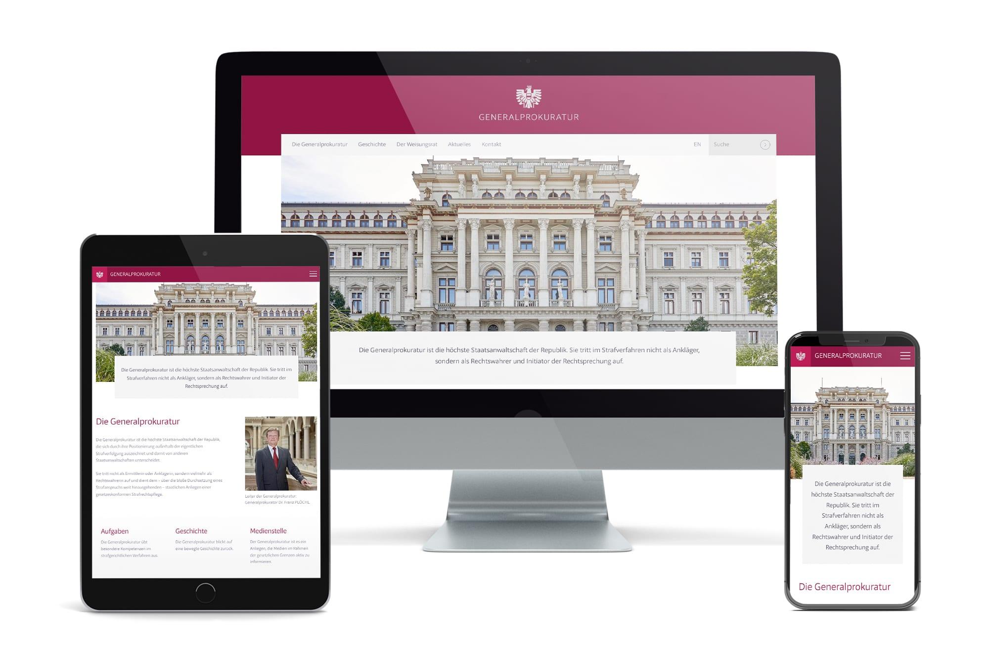 Webdesign Beispiel: Neue Website für Gerichtshof