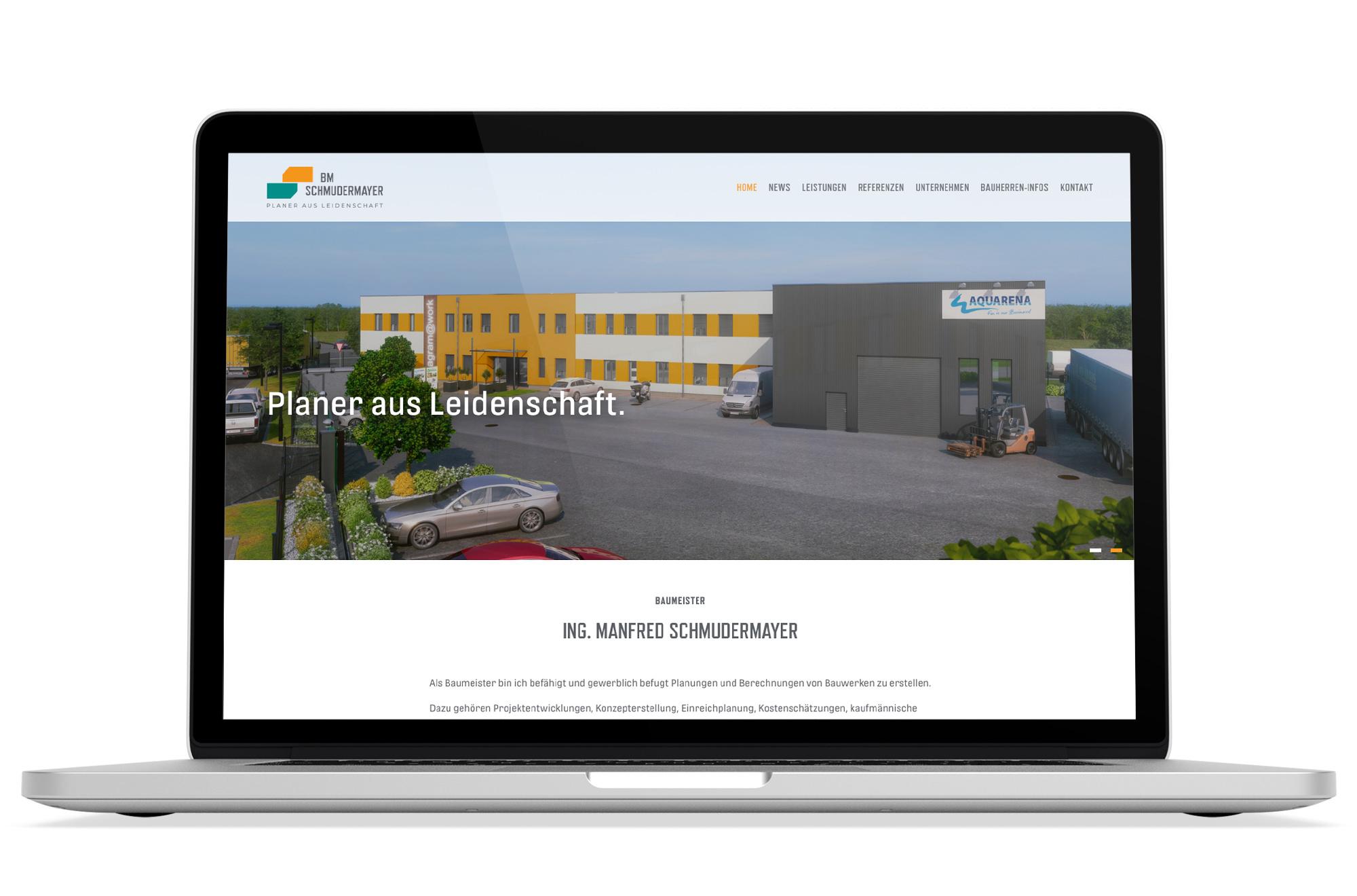 Webdesign Beispiel: Logodesign, Responsive Webdesign, WordPress für Baufirma - Baumeister