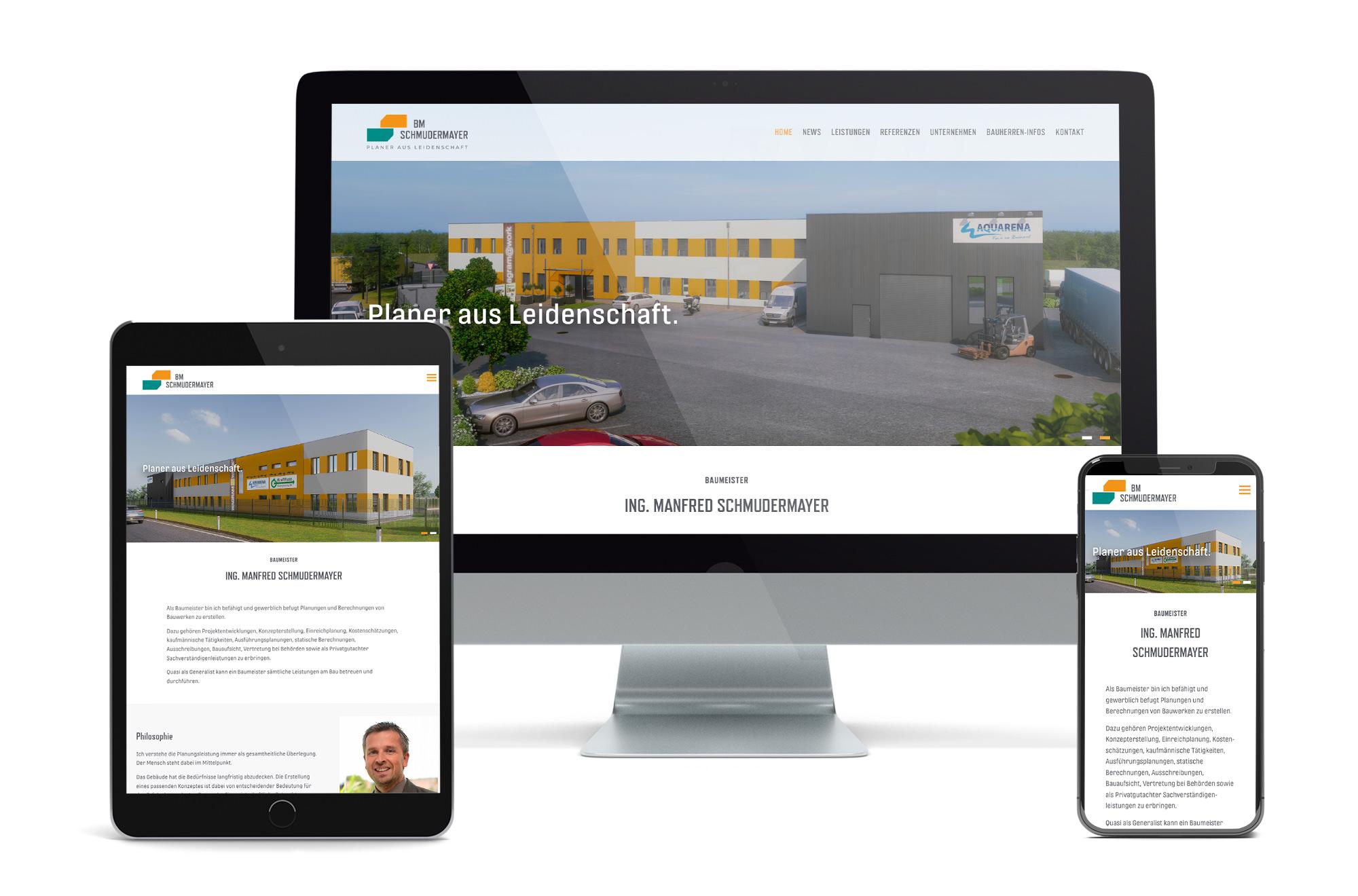 Webdesign Beispiel: Neue Website für Baufirma - Baumeister