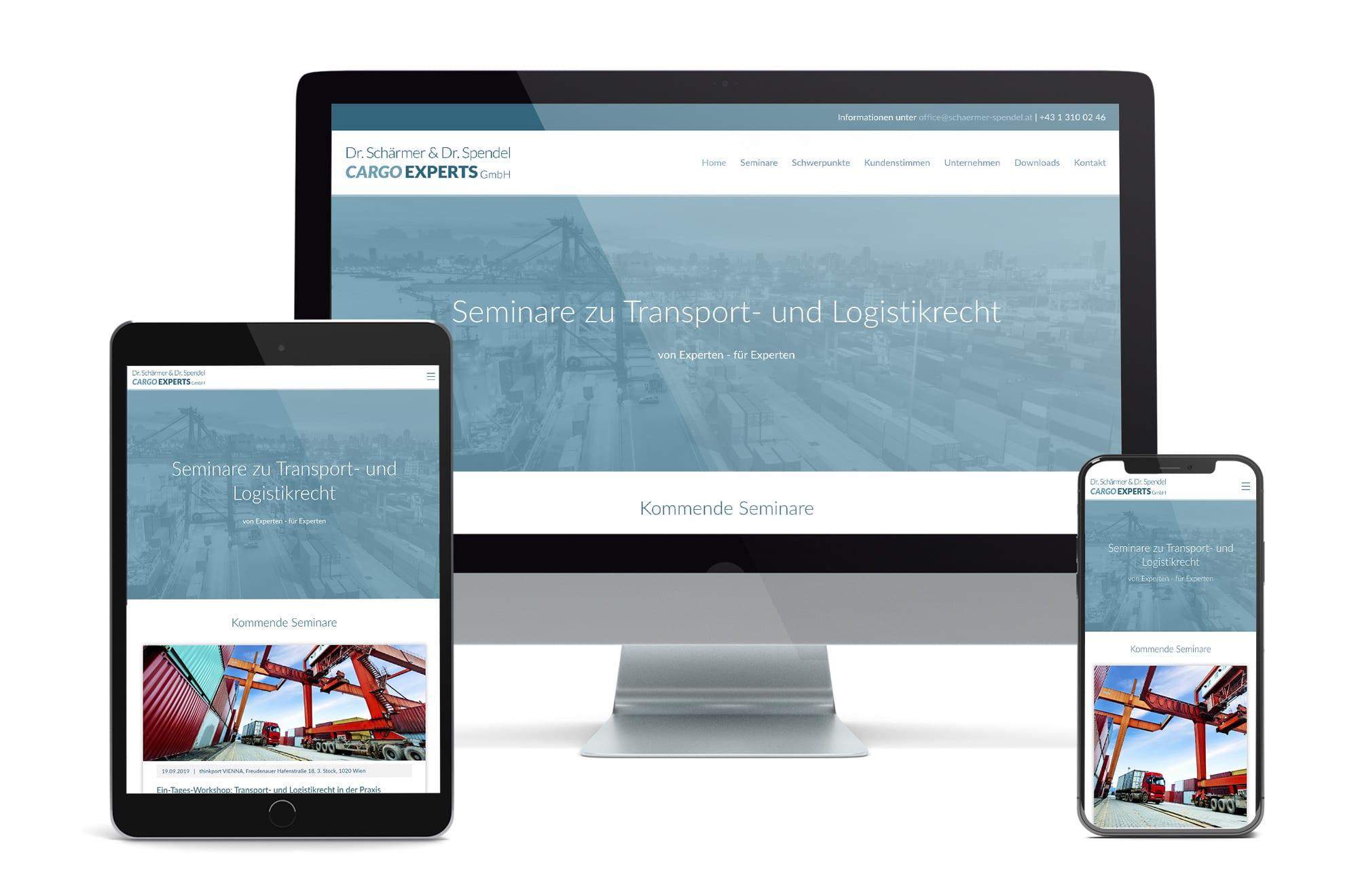 Webdesign Beispiel: Neue Website für Rechtsanwalt Wien und Seminarveranstalter
