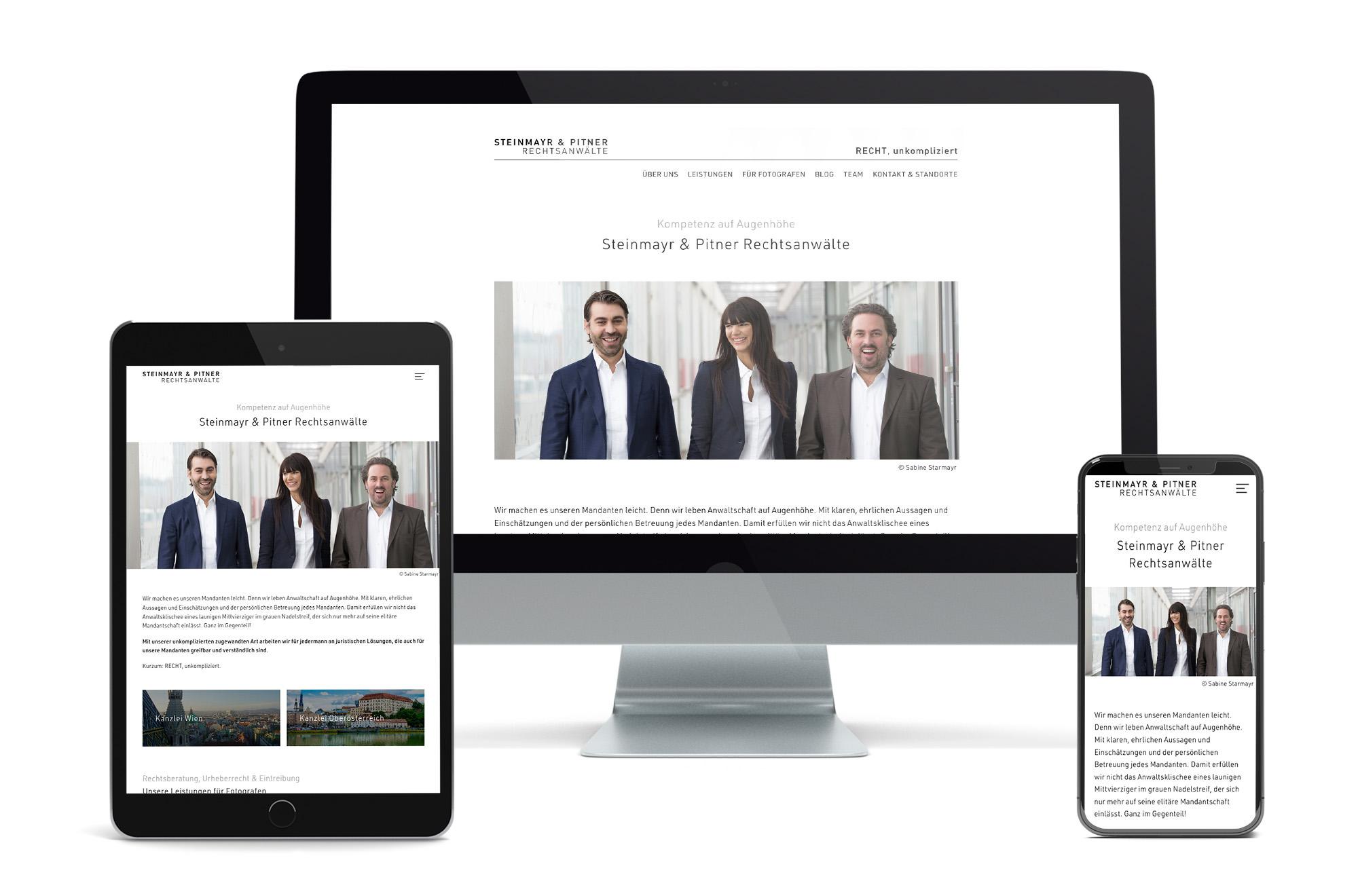 Webdesign Beispiel: Neue Website für Rechtsanwalt/Anwaltskanzlei Wien, Oberösterreich