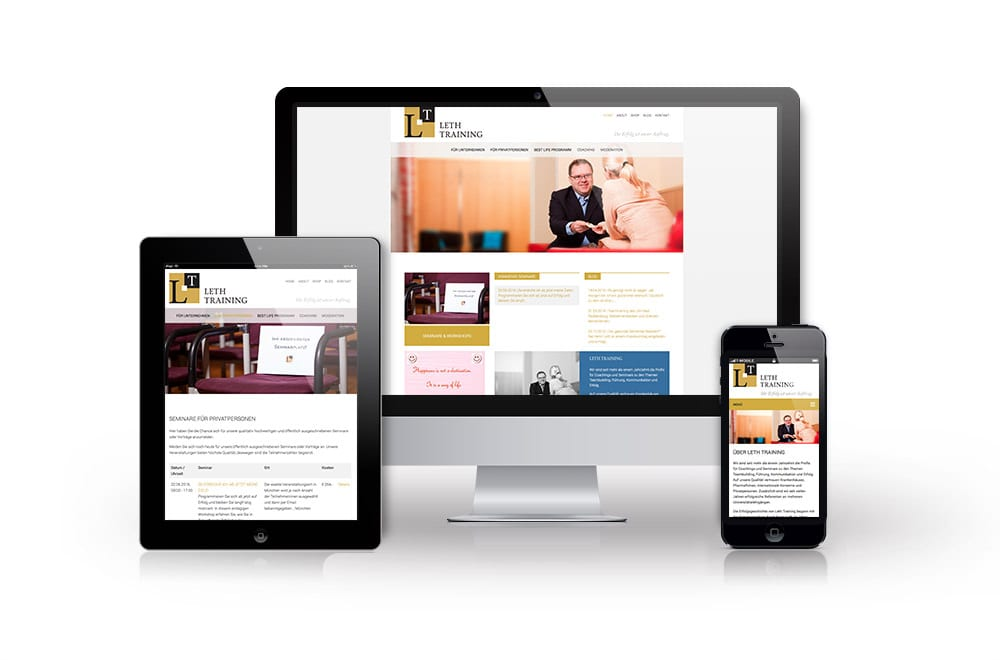 Beispiel: Mobiles Webdesign, Content Management System, Suchmaschinenoptimierung (SEO)