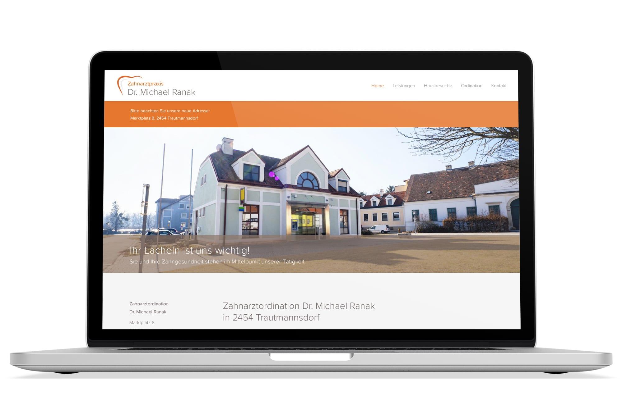 Webdesign Beispiel: Logodesign, Responsive Webdesign für Zahnarzt in Trautmannsdorf