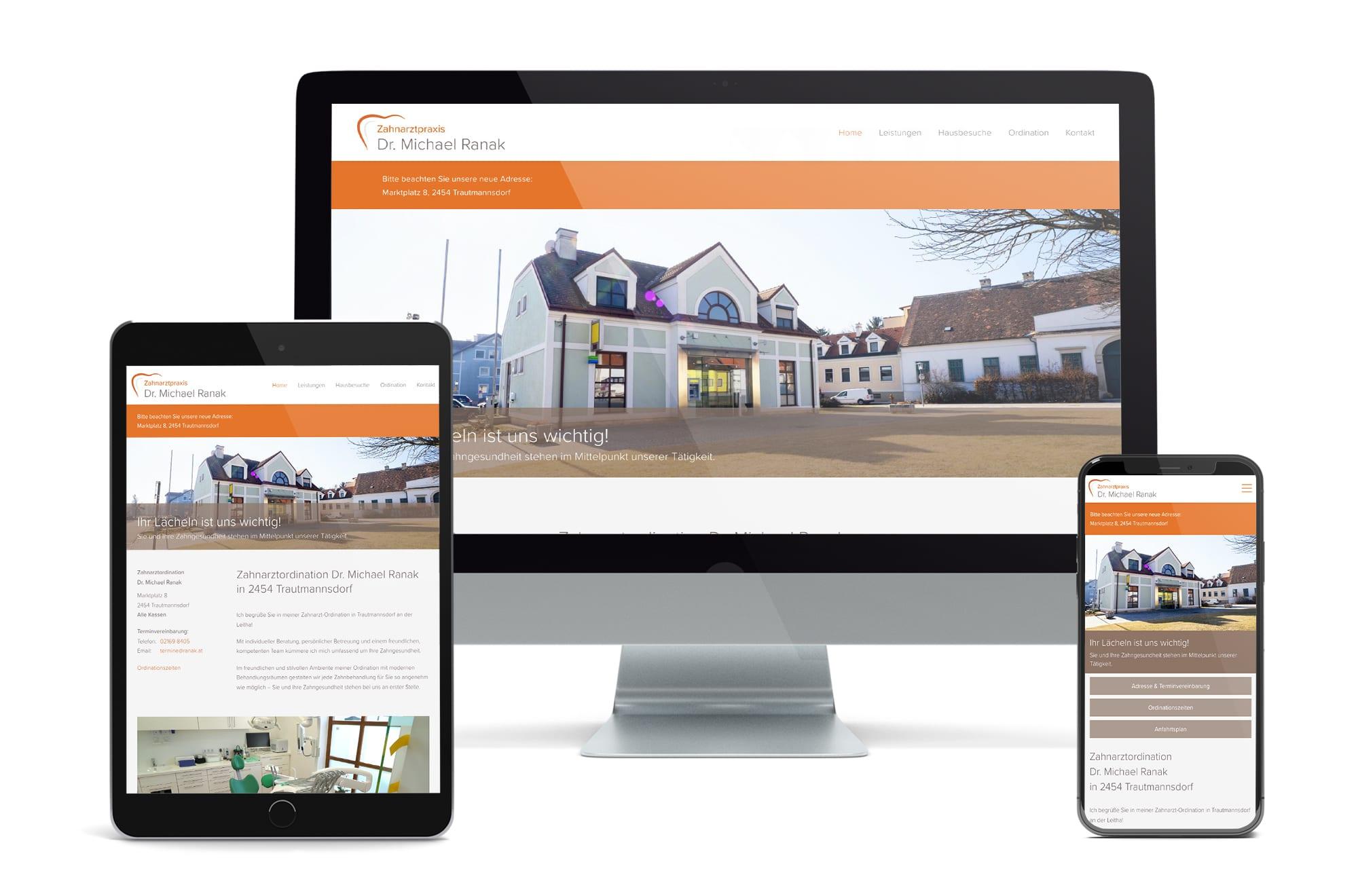Webdesign Beispiel: Neue Website für Zahnarzt in Trautmannsdorf