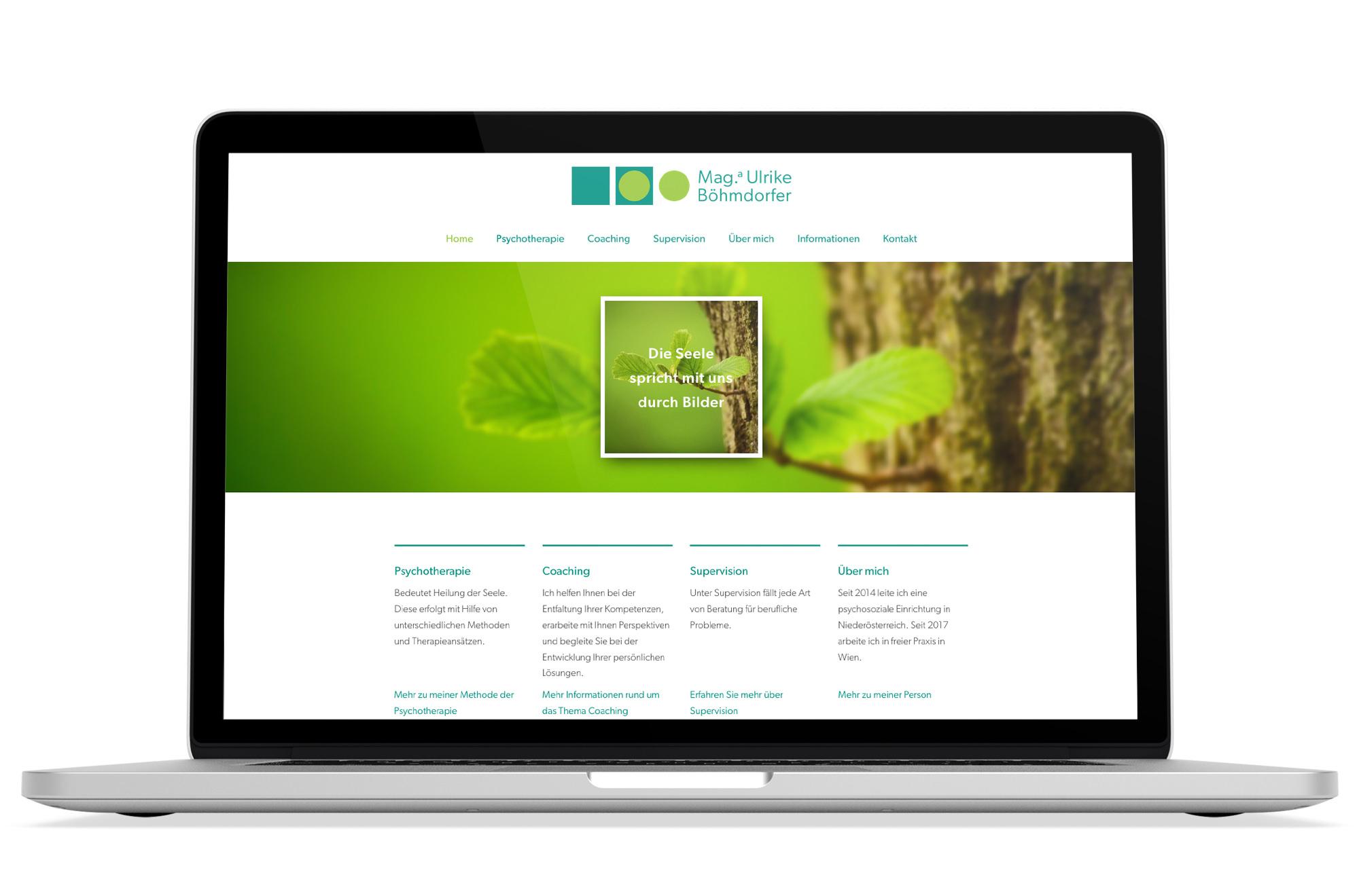 Webdesign Beispiel: Responsive Webdesign, WordPress für Psychotherapie Wien