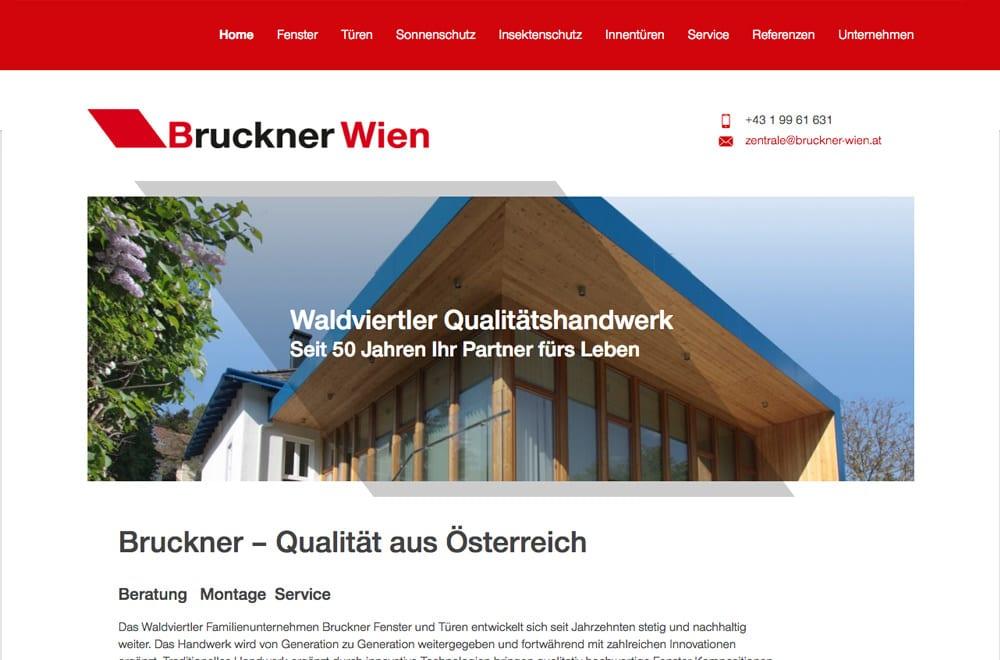 Responsive Webdesign Beispiel: Neue mobile Webseite für  Fenster & Türen - Handel, Montage & Service (Wien)
