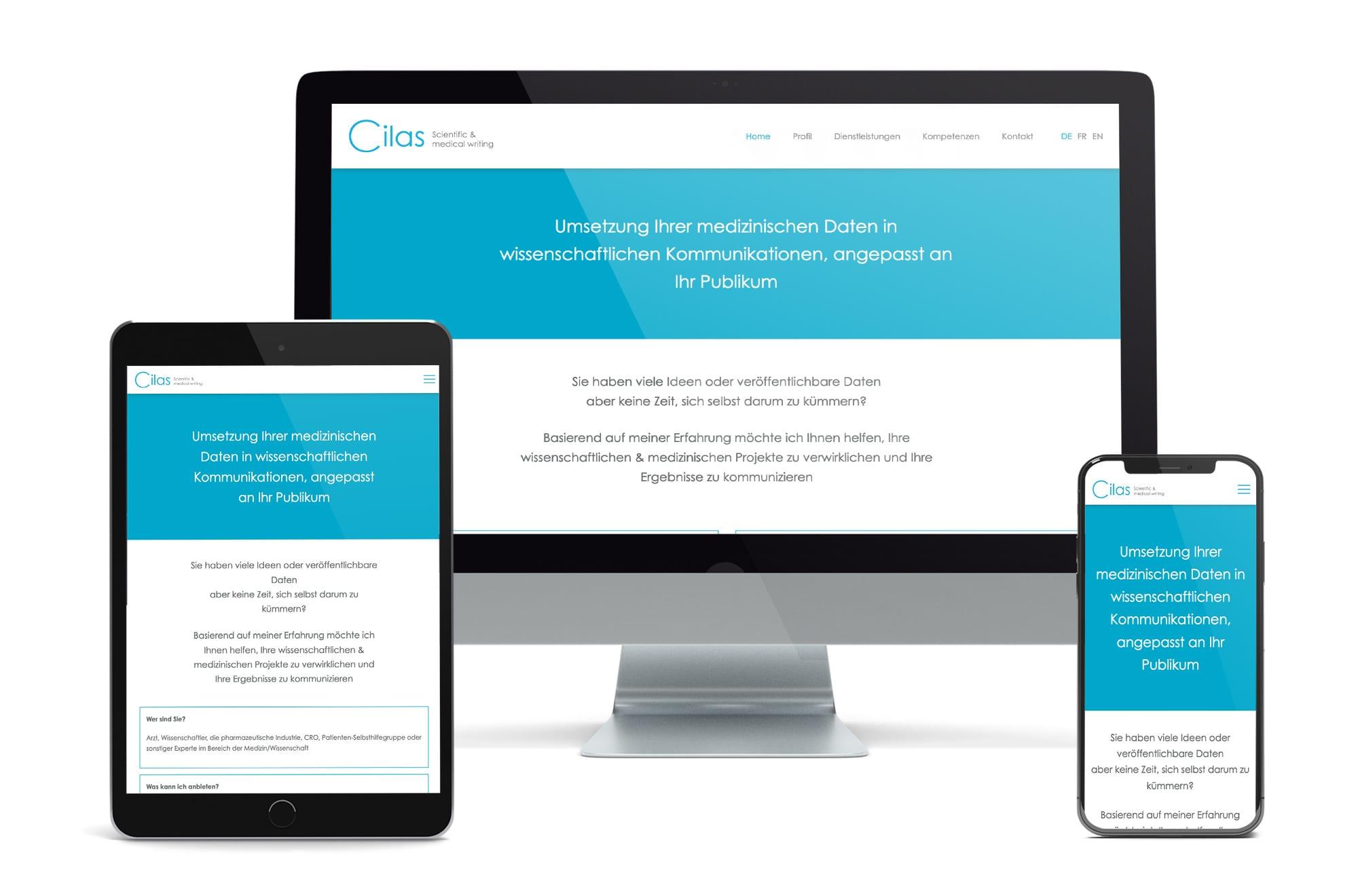 Webdesign Beispiel: Neue Website für Scientific & medical writing
