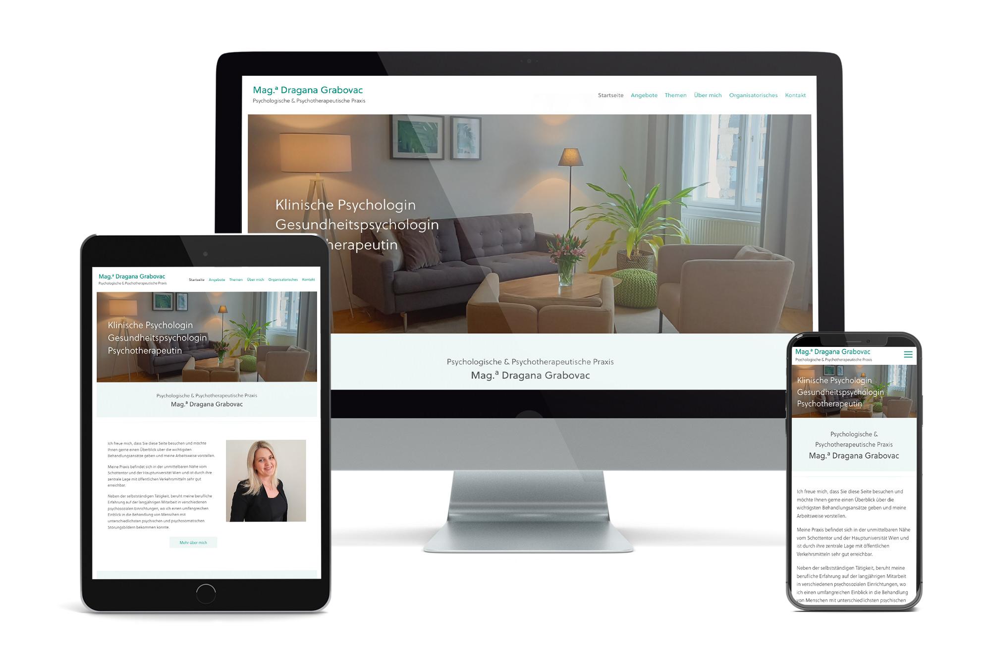 Webdesign Beispiel: Neue Website für Psychotherapie 1090 Wien