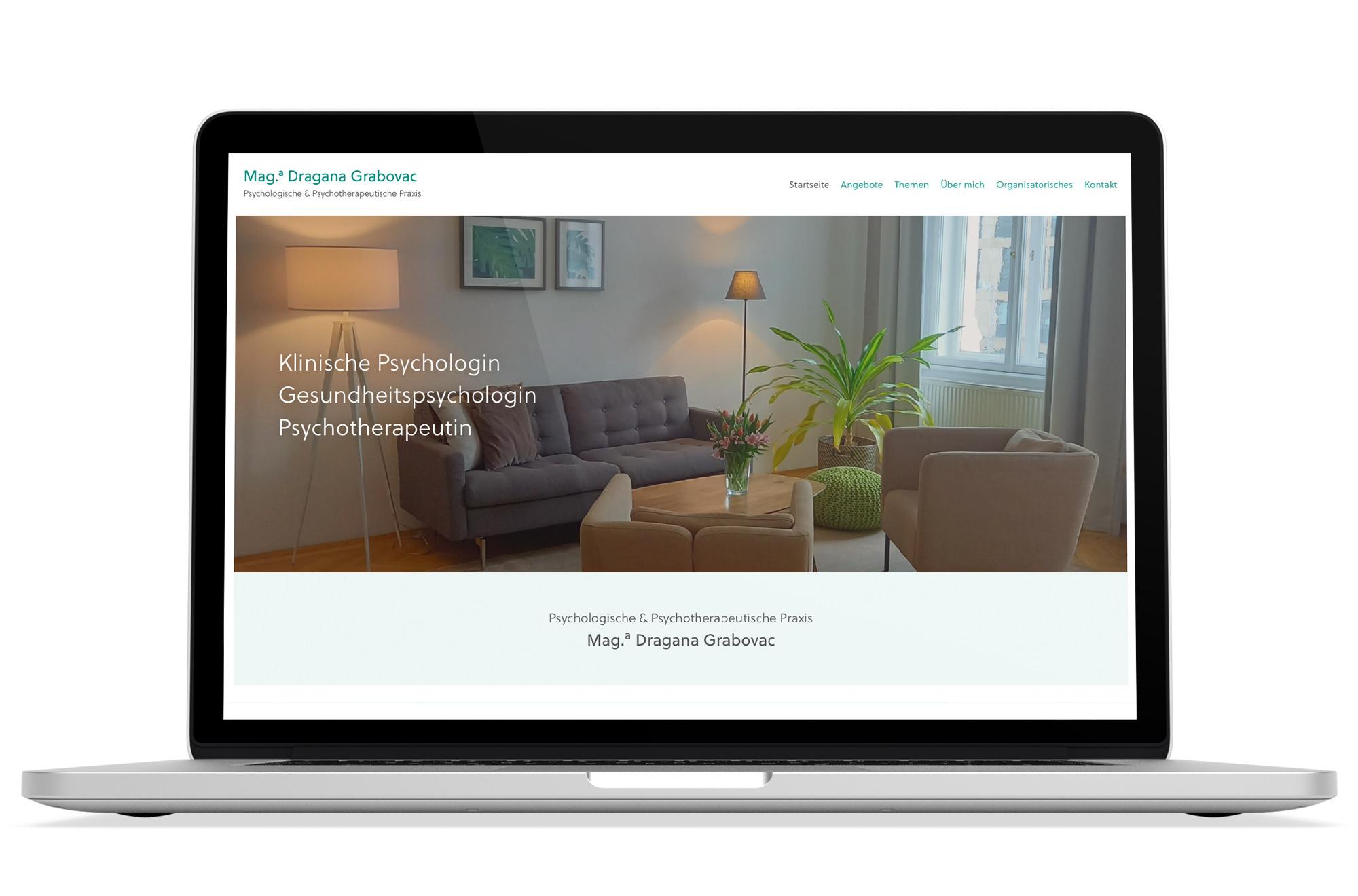 Webdesign Beispiel: Responsive Webdesign, WordPress für Psychotherapie 1090 Wien