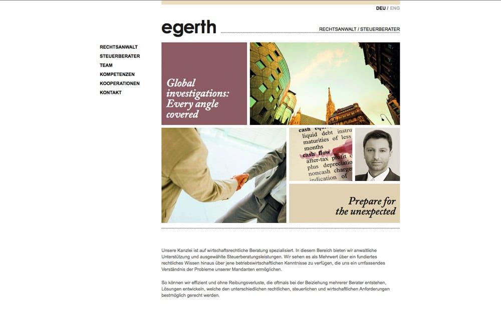 Webdesign Beispiel: WordPress, Designumsetzung für Rechtsanwalt, Steuerberater